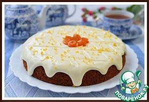 Рецепт Морковный пирог с лимонным кремом