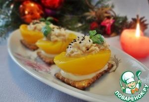 Рецепт Фаршированные курицей персики