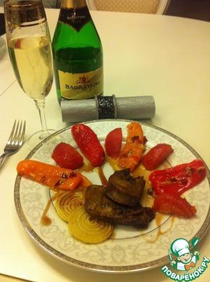 Рецепт Язык телёнка с овощами в духовке