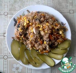 Рецепт Постный плов с изюмом и кукурузой