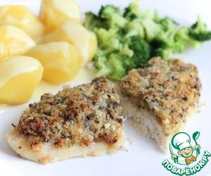 Рецепт Рыбное филе в шубе из панировочных сухарей