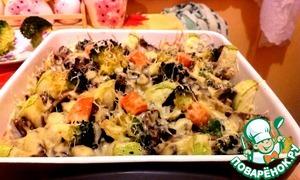 Рецепт Рыба с грибами и овощами