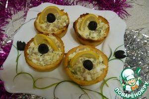 """Рецепт Салат """"Черная жемчужина"""" + тарталетки"""