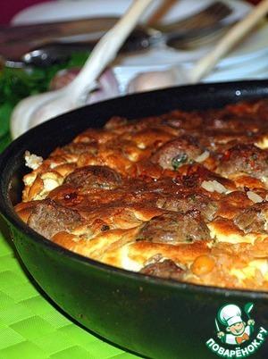 Рецепт Печеный рис с фрикадельками