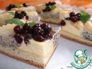 Рецепт Творожно-маковый пирог с грушами
