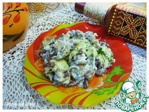 Рецепт Запеканка фасолевая с грибами и сыром