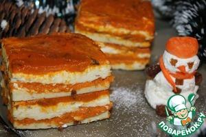 Рецепт Творожно-яблочно-морковный десерт