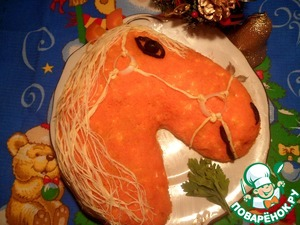 """Рецепт Салат """"С годом лошади"""""""