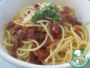 Рецепт Пикантные спагетти с вялеными помидорами