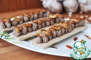 Рецепт Фасолевая паста с запечённым чесноком и шампиньонами