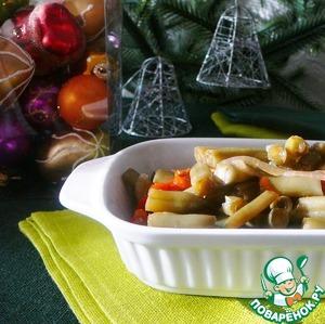 Рецепт Маринованная стручковая фасоль с морковью, луком и красным сладким перцем