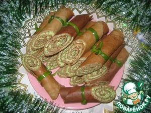 Рецепт Рулетики из печени с начинкой