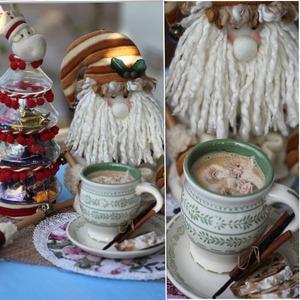 Рецепт Замороженные рождественские сливки в горячие напитки