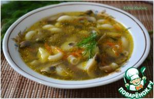 Рецепт Грибной суп с макаронами