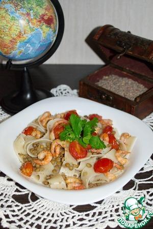 Рецепт Мальфатти (паста) с чечевицей
