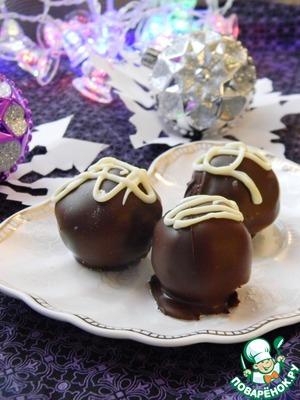 Рецепт Бисквитные конфеты с вишней