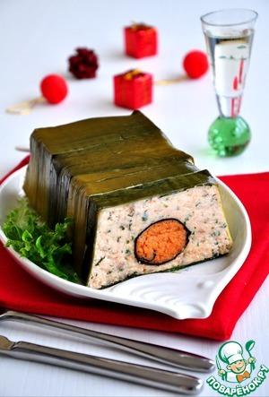 Рецепт Террин из лосося с креветками