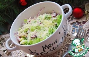 Рецепт Зелёный салат с пармезановой заправкой