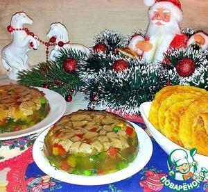 Рецепт Заливное из утки и болгарского перца