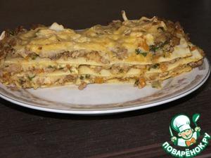 Рецепт Мясная лазанья