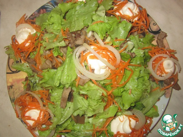 Рецепт салата из языка с пошаговым