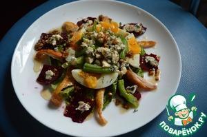 Рецепт Салат с голубым сыром и свеклой