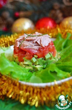 Рецепт Тимбал из авокадо и тунца