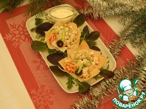 Рецепт Салат из авокадо с копченой курочкой