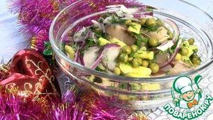 Как готовить Салат из сельди и горошка пошаговый рецепт с фото
