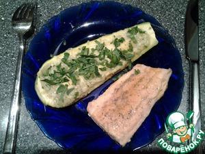 Рецепт Запеченые кабачки с начинкой из зелени
