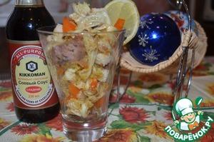 Рецепт Салат с куриной печенью и перцем