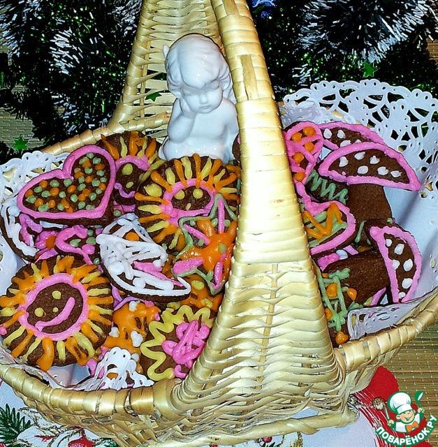 Имбирное печенье новогоднее рецепт с фото пошагово