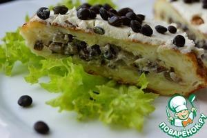 Рецепт Картофельные оладьи с двумя видами начинки