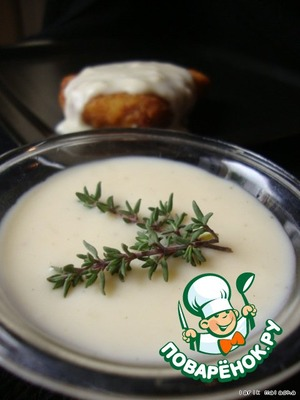 The Bechamel sauce in the microwave