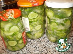 Рецепт Салат сырой из огурцов на зиму