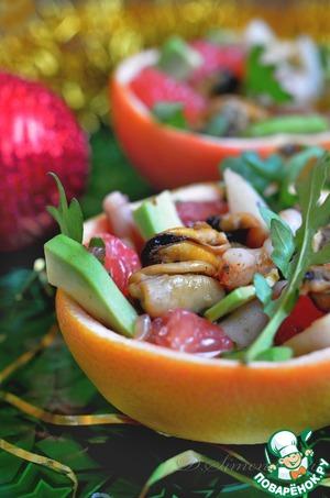 Рецепт Морской коктейль в грейпфруте
