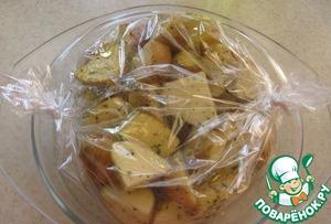 Рецепт Картошечка, запеченная в рукаве