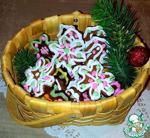 """Рождественское печенье """"Снежинка"""""""