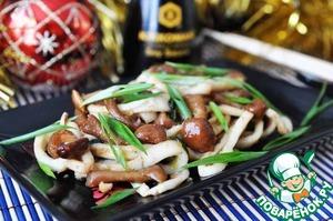 """Рецепт Закуска из кальмара и грибов """"Новый год в Пекине"""""""