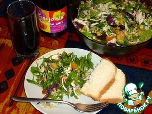 Рецепт Салат с индейкой, хурмой и авокадо