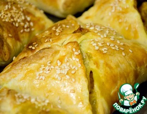 Рецепт Слойки «Курица карри с грибами»