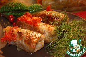 Рецепт Постные голубцы-идеальный гарнир или горячая закуска
