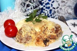 Рецепт Тефтельки в сливочно-грибном соусе