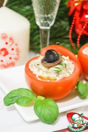 Рецепт Помидоры фаршированные салатом из тунца