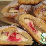 Печенье творожно-овсяное с мармеладом