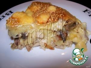 Рецепт Рулет с курицей, сыром и грибами