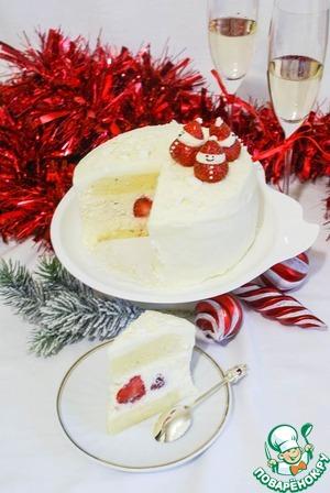 Рецепт Красно-белый торт на белом шоколаде