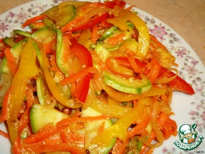 Рецепт Салат из кабачков по-корейски