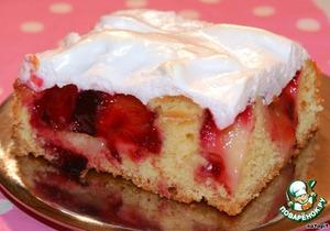 Сливовый пирог из теста на йогурте