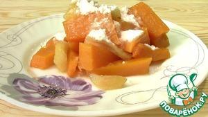 Рецепт Тыква с яблоками запеченная в духовке